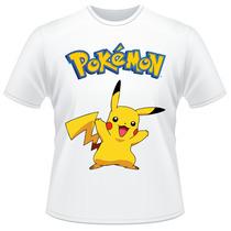 Camiseta Pokemon Pikachu Anime Desenho Camisa
