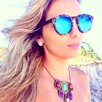 Óculos De Sol Feminino Modelo Illesteva Espelhado 5 Cores