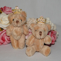10 Lembrancinhas Chaveiro Ursinho - Urso Com Coroa - 8cm