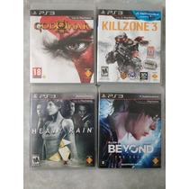 Coleção 4 Jogos Exclusivos De Ps3 Portugues Midia Física