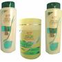 Kit Quiabo E Queratina Shampoo Condicionador Creme 1kg
