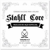 Kit 20 Cordas Avulsas Mi (e) Para Violino 4/4 Stahll Core