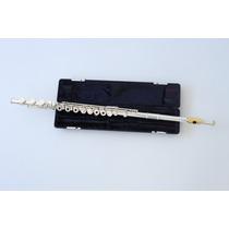 Flauta Transversal Profissional Armstrong 800b Prata / Ouro