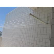 Varal Externo Retratil 5 Cordas Parede/muro, Não Enferruja