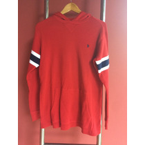 Blusa / Malha Polo Ralph Lauren Vermelha G C/ Capuz