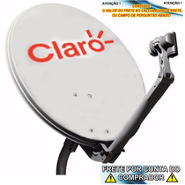 Kit Antena 60cm Banda Ku + Lnb Duplo + 20mts De Cabo+fixação