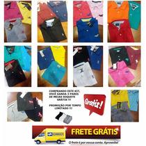 Kit 15 Camisas Polo Masculina Atacado Revenda Pronta Entrega
