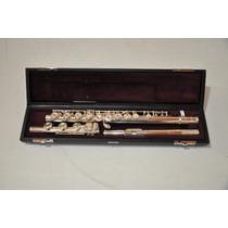 Flauta Transversal Yamaha 461 Prata Maciça B Grave - Nova !