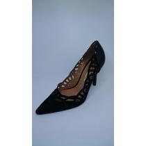 Sapato Feminino Camurça Flex Verniz Cristal Brilho Vizzano