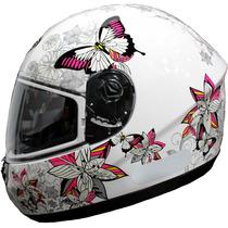 Capacete Feminino Peels Spike Butterfly Branco/ Rosa