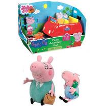 Carro Peppa Pig Papai Pig + George Pig + Papai Pepa Pig