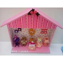 Casinha Para Menina Com Miniaturas Removíveis