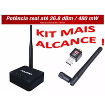 Kit Roteador Wireless 2.4ghz Wifi Apr-2408 150mbps 5dbi Nf