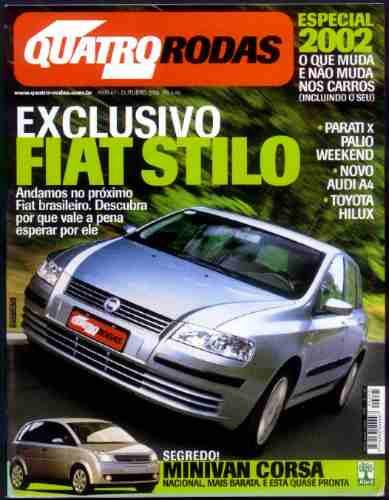 4rodas N.495 Out 2001 - Fiat Stilo, Toyota Hilux, Audi A4