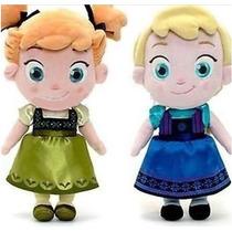 Kit 2 Pelucias Frozen Baby Elsa E Anna 30 Cm Pronta Entrega