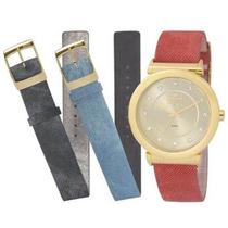 Relógio Dumont Feminino Troca Pulseira Du2036ltq/2d
