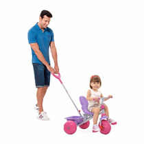 Triciclo Infantil Smart Pop Meninas Rosa Brinquedo Bandeiran