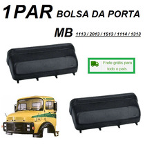 Par Bolsa Lateral Porta Caminhão Mb 1113 1114 1313 2013