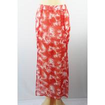 Material Girl Hetero Combinação Veja Tru Skirt Red Tropica