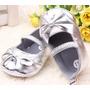 Sapato Sapatilha Prateada Para Bebe Importada Pronta Entrega