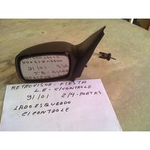 Retrovisor Fiesta 96 97 98 99 00 01 C/ Controle L/e 2/4 - P