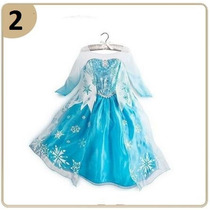 Frozen Kit Festa Fantasia Vestido Elsa Disney Pronta Entrega