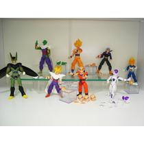 Dragon Ball Z 8 Bonecos Kuririm Goku Frezza Gohan Cell Dbz