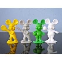 Lote 4 Mini Bonecos Do Ratinho Topo Gigio Esportes Anos 80
