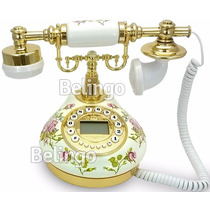 Telefone Digital Vintage Antigo Retro Porcelana Decoração