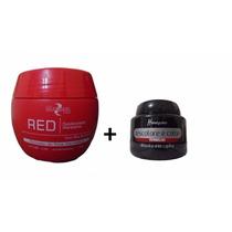 Pó Descolore E Colore Mairibel Vermelho 100 Gr E Máscara Red