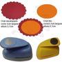 Furador Oval Escalopado 5cm +liso 3,7cm + Círculo Esc 6,3cm