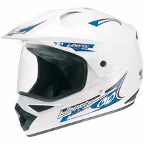 Capacete Top Helmet Com Viseira Th1 Branco Protork