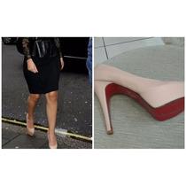 Sapatos Femininos Modelo Schutz Scarpin Nude Meia Pata