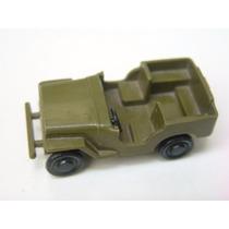 Brinquedos Mirim - Antigo Jeep Militar De Plástico Duro