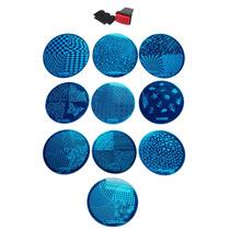 Kit Decorativo Para Unhas » 10 Placas + Carimbo