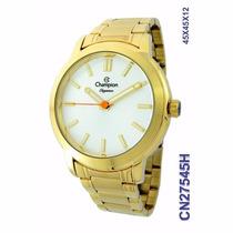 Relógio Champion Cn27545h Dourado Original