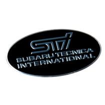 Adesivo Badge Em Metal - Subaru Sti Preto