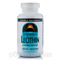 Lecitina De 1200 Mg - 100 Cápsulas Por Source Naturals