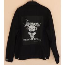 Jaqueta / Colete Jeans Com Patch Do Venom - Tam G Masc J524