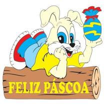 Painel De Pascoa ( Coelho No Tronco Grande )