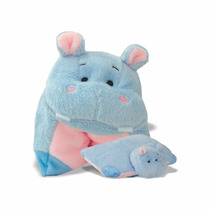 Pelúcia Bichinho Travesseiro - Hipopó - Soft Toys