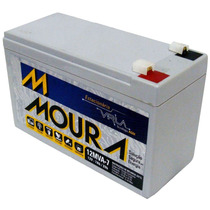 Bateria Estacionária 12v 7a Para Nobreak Alarme Cerca Moura