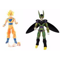 Cell + Son Goku Dragon Ball Z Articulável 2 Bonecos Dbz