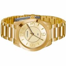 Relógio Feminino Lince Dourado (orient) Lrgk040l Prova Dágua