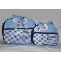 Kit Bolsa Maternidade Masculino Para Bebe/criança 2 Peças