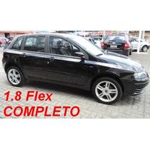 Fiat Stilo 1.8 Flex, Preto, Completo + Rodas Aro 17