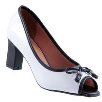 Sapato Peep Toe Vizzano Verniz Cristal Feminino 1818415