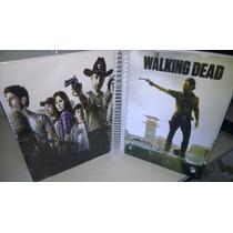 Caderno The Walking Dead De Anotações Com Adesivos