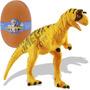 Mini Quebra Cabeça 3d Dinossauro Carnotaurus Pequeno