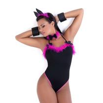 Fantasia Feminina Erótica Coelhinha Playboy Sexy Sensual